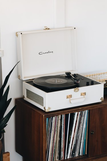 record player and media console
