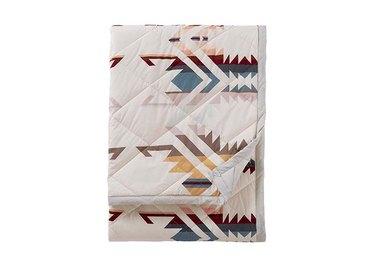 Pendleton White Sands Reversible Roll-Up Throw Blanket