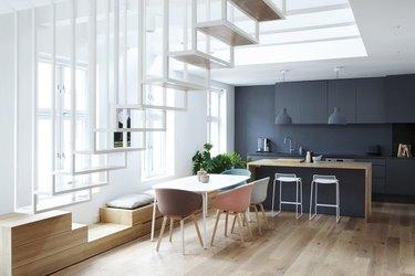open scandinavian kitchen design