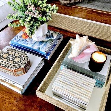 Box on coffee table