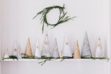 DIY paper tree advent calendar