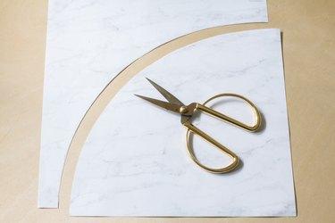 Arc shape cut out of paper