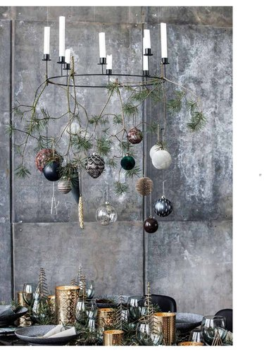 Scandinavian holiday dining table