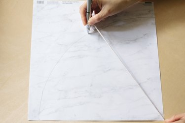 Drawing arc on paper