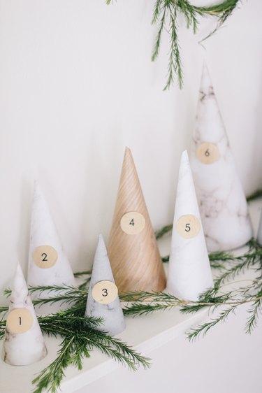 DIY neutral advent calendar