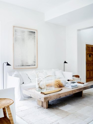 white mediterranean living room