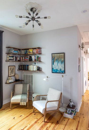 small space reading nook