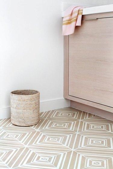 handmade patterned ceramic floor tile