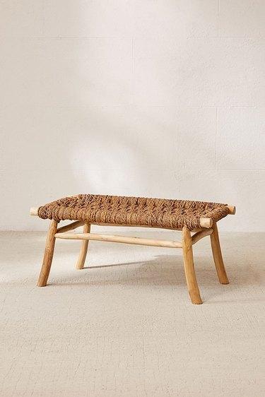 woven bench