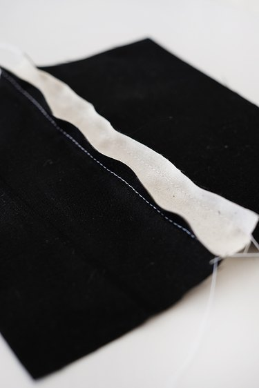 """sew the good sides of the fabric together with a 1/4 """" seam allowance."""