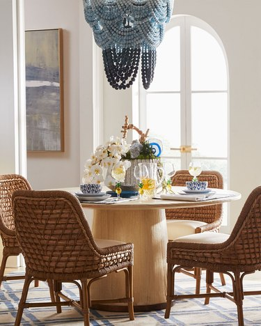 Horchow Ombre Wood Bead Chandelier