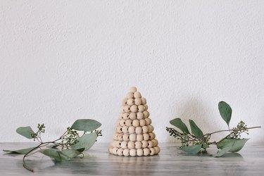DIY wood bead Christmas tree