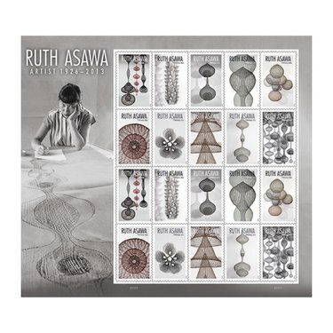 Ruth Asawa Forever Stamps (sheet of 20), $11