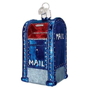 Glass Mailbox Ornament, $15.95