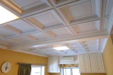 Coffered tile ceiling