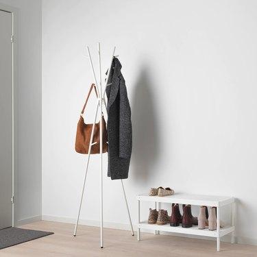 coat on coat rack