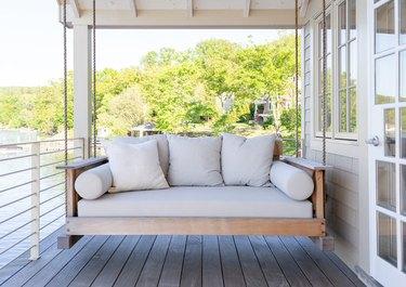 farmhouse porch swing