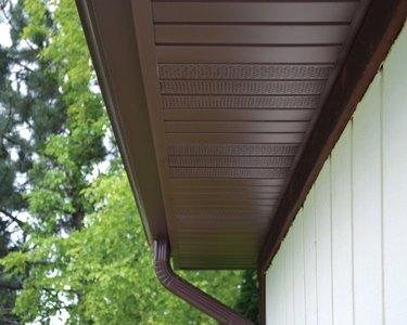 Roof soffit vents.