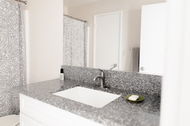 deck mounted bathroom faucet