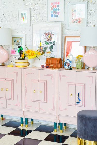 Wes Anderson Inspired Entryway Console by PMQ for Two