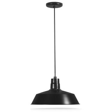 14-inch Industrial Black Pendant Barn Light Fixture