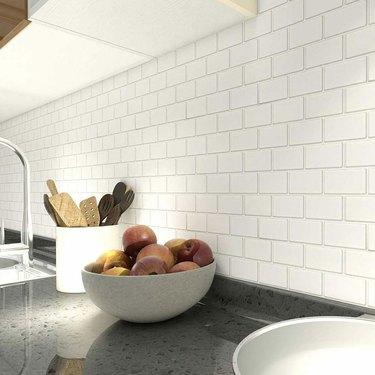 Art3d 10-Sheet Peel and Stick Tile Backsplash for Kitchen in Subway Design