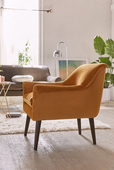 mustard accent chair