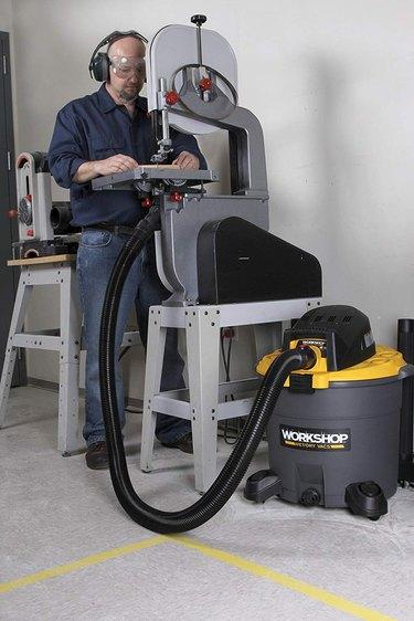 Shop vacuum dust collector.