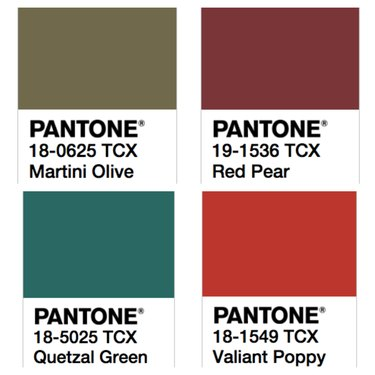 fall pantone colors