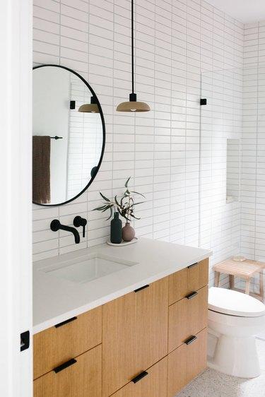 rectangular ceramic wall tile in bathroom