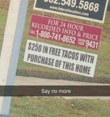funny for sale sign