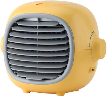 yellow tabletop air conditioner