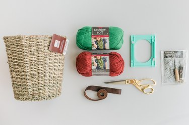 Here's what you'll need to make-over your DIY tasseled basket.