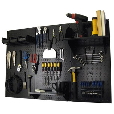 Pegboard tool storage systems