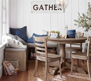 Pottery Barn Banquette Set