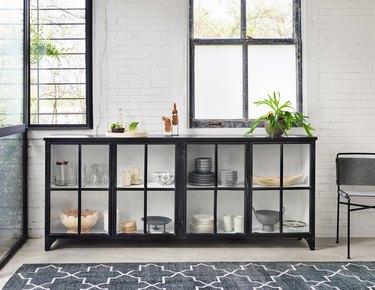 Burke Decor Glass Front Cabinet