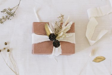 Dried floral gift topper