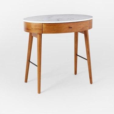 west elm marble top desk