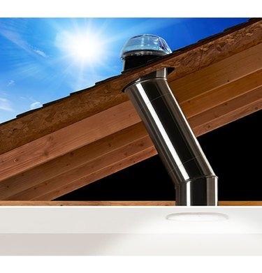 Cross-section of tubular skylight