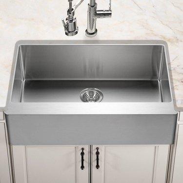 Houzer Epicure Series Apron Front Gourmet Single Bowl Kitchen Sink