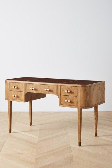 classical wood desk