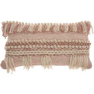 Nourison Life Styles Textured Blush Decorative Throw Pillow, $55.24