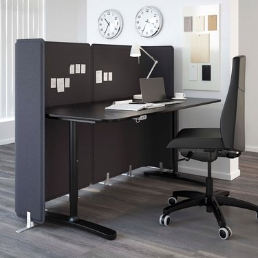 Ikea Bekant Screen for Desk in dark gray