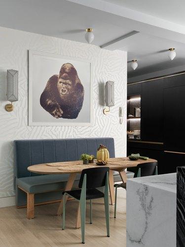modern dining nook