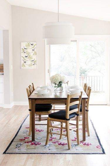 greige dining room