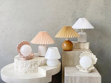 en gold lampshades