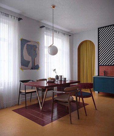 bauhaus colors in dining room