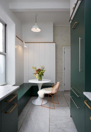 Carrara marble use as kitchen countertops and flooring