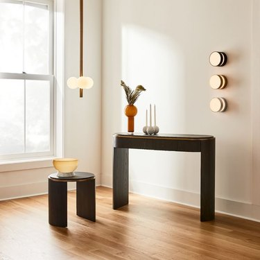side table, console, and other furnishings