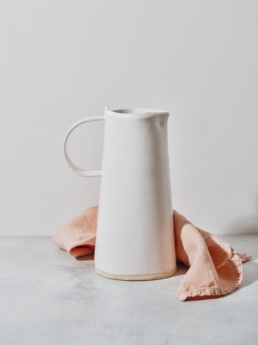 white matte pitcher